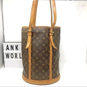 Louis Vuitton Bucket GM Monogram tote shoulder bag
